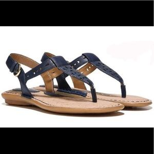 NWT boc 'Charel' Navy Leather Thong Sandals